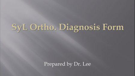 [강의 2] Seminar #1 – SyL Ortho Diagnosis Form