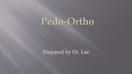 [강의 23] Seminar #9 –  Pedo-Ortho