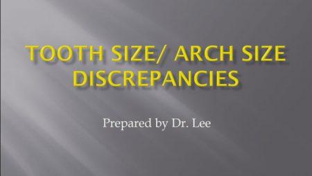 [강의 29] Seminar #11 –  Tooth Size and Arch Size Discrepancies