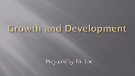 [강의 24] Seminar #9 – Growth and Development