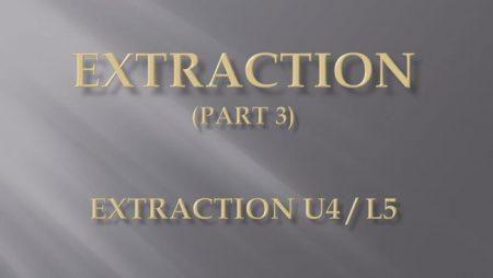 [강의 27] Seminar #10 – Extraction  (Part 3) – U4L5 발치
