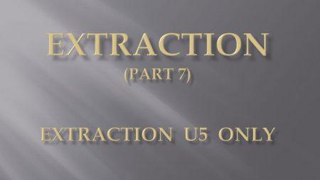 [강의 27] Seminar #10 – Extraction (Part 7) – U5 발치 Only