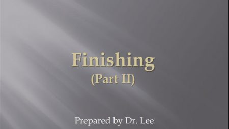 [강의 48] Seminar #17 – Finishing (Part II)
