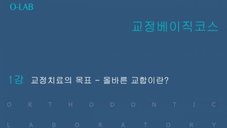 교정 베이직 코스 1강